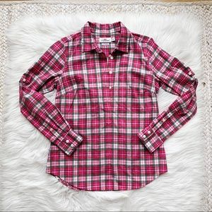 Vineyard Vines Pink Plaid Pullover Top